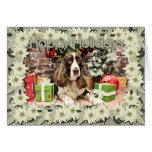 Navidad - perro de aguas de saltador inglés - Loga Tarjetón
