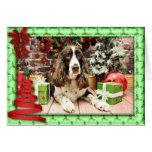 Navidad - perro de aguas de saltador inglés - Loga Felicitacion