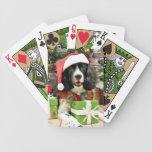 Navidad - perro de aguas de saltador inglés - Lucy Baraja Cartas De Poker