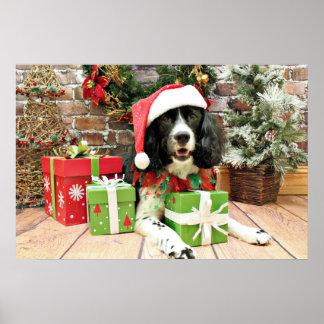 Navidad - perro de aguas de saltador inglés - Lucy Impresiones