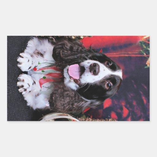 Navidad - perro de aguas de saltador inglés - rectangular altavoces