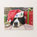 Navidad - perro de montaña de Bernese - Mya Rompecabezas Con Fotos