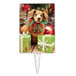 Navidad - perro de patas muy cortas - Heidi Palillos De Tarta
