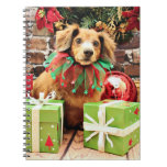 Navidad - perro de patas muy cortas - Heidi Libretas Espirales