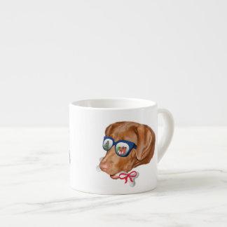 Navidad, perro del labrador retriever taza espresso
