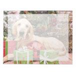 Navidad - perro perdiguero de oro Riley Bloc De Notas