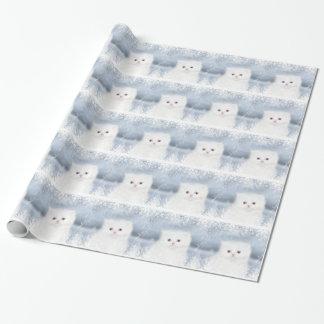 Navidad persa blanco del gatito