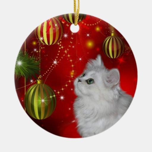 Navidad persa del gatito ornatos