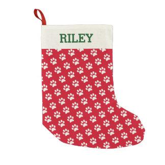 Navidad personalizada impresión roja conocida de calcetín de navidad pequeño