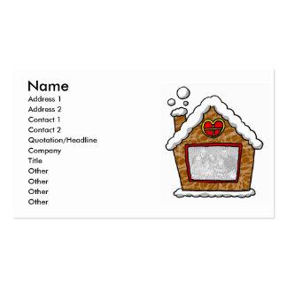 Navidad personalizado de la casa de la galleta tarjetas de visita