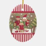 Navidad personalizado de la familia (4) que saluda adornos de navidad