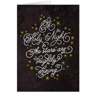 Navidad personalizado escritura elegante santa de tarjeta de felicitación
