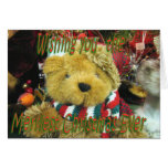 Navidad-personalizar de TeddyBear Tarjeta De Felicitación