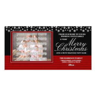 Navidad Photocard de la familia de la frontera de  Tarjeta Fotografica