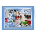 Navidad Photocard de Shih Tzu Tarjeta De Felicitación