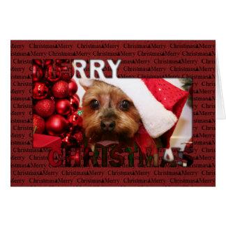 Navidad Photocard de Yorkshire Terrier Tarjetas