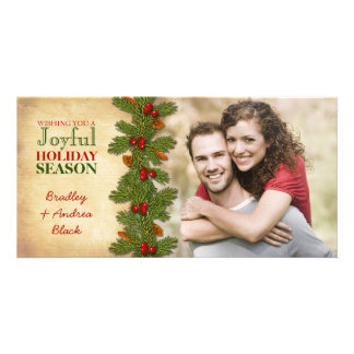 Navidad Photocard del navidad de las bayas del Tarjetas Fotográficas Personalizadas