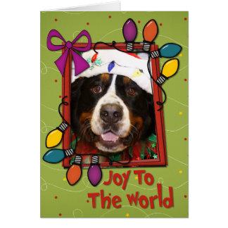 Navidad Photocard del perro de montaña de Bernese Felicitaciones