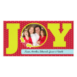 Navidad Photocards con alegría Tarjeta Fotografica Personalizada