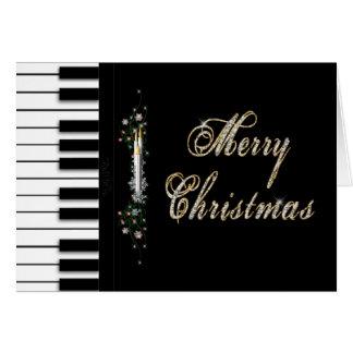 Navidad - piano - Musical Tarjeta De Felicitación