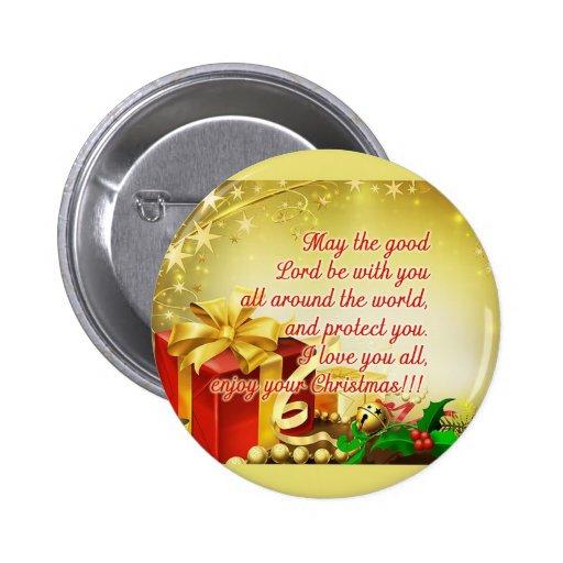 Navidad Pin Redondo 5 Cm