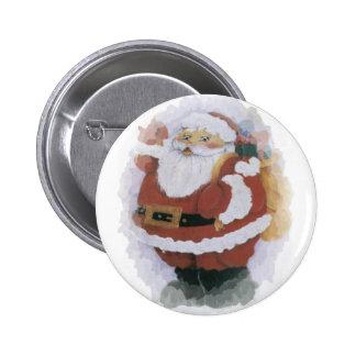 Navidad Pin Redondo De 2 Pulgadas