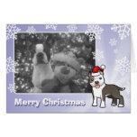 Navidad Pitbull/Staffordshire Terrier americano Tarjeta De Felicitación