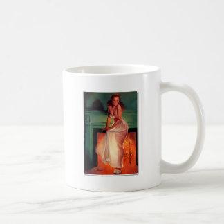 Navidad - placer escarpado taza clásica