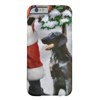 Navidad Plano-Revestido del perro perdiguero Funda De iPhone 6 Barely There
