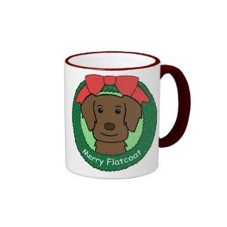 Navidad Plano-Revestido del perro perdiguero Taza De Dos Colores
