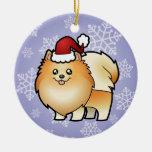 Navidad Pomeranian Ornamentos De Navidad