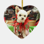 Navidad - Pomeranian X - margarita Ornamentos De Navidad