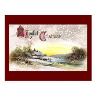 Navidad por la corriente del molino postal