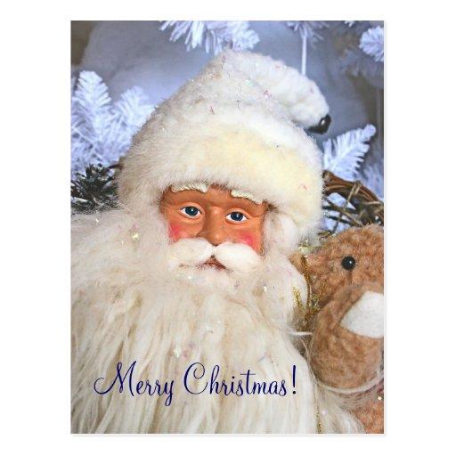 Navidad/postal de Yule Nevado Santa