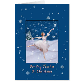 Navidad, profesor, tarjeta de la bailarina de la r