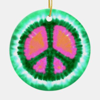 Navidad psicodélico del signo de la paz ornamento para reyes magos