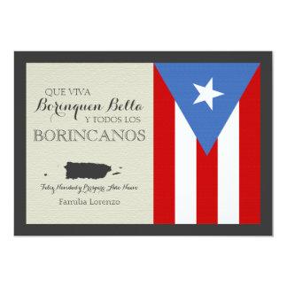 Navidad puertorriqueño invitación 12,7 x 17,8 cm