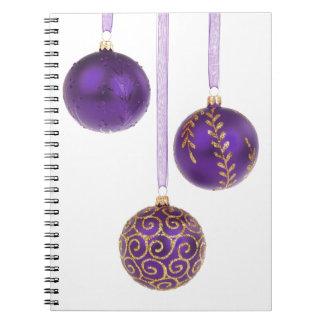 Navidad púrpura Amethyst de la lavanda del Winterb Libreta