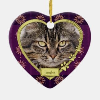 Navidad púrpura conmemorativo de la foto del coraz