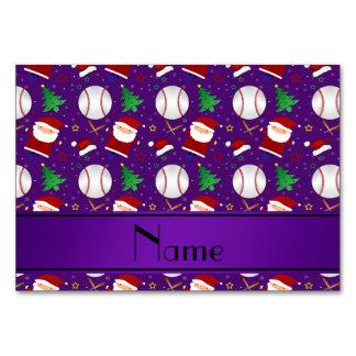 Navidad púrpura conocido personalizado del béisbol