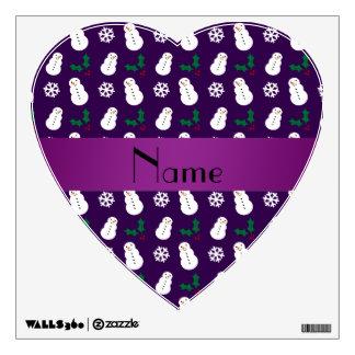 Navidad púrpura conocido personalizado del muñeco