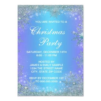 """Navidad púrpura del copo de nieve del trullo de la invitación 4.5"""" x 6.25"""""""