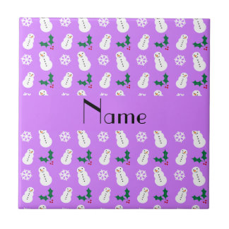 Navidad púrpura en colores pastel conocido persona azulejos ceramicos