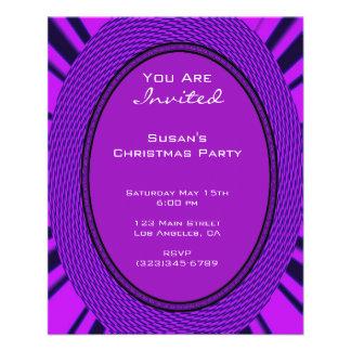 Navidad púrpura maravilloso tarjeta publicitaria