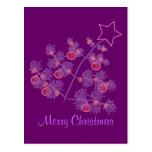 Navidad púrpura postal