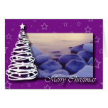 Navidad púrpura tarjetón