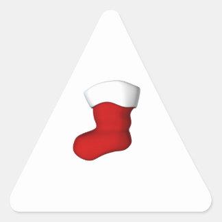 Navidad que almacena al nombre pegatinas triangulo