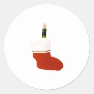 Navidad que almacena Champán Etiquetas Redondas