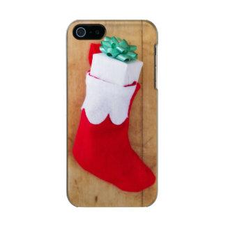 Navidad que almacena con el pequeño regalo carcasa de iphone 5 incipio feather shine