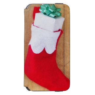 Navidad que almacena con el pequeño regalo funda billetera para iPhone 6 watson